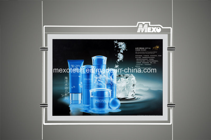 Crystal Acrylic Advertising Magnetic LED Light Box with Engraved Logo