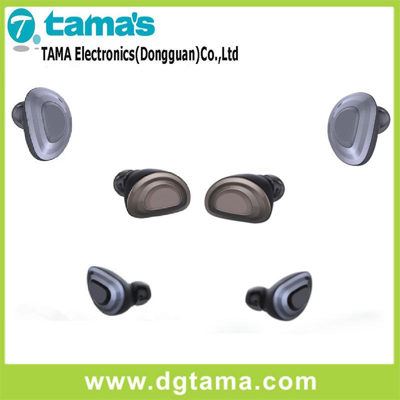 Wireless Bluetooth in-Ear Earphone Black Iron Grey Colors Option