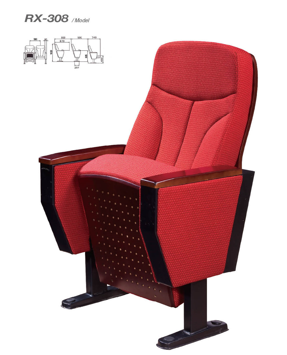 Hot Sale Comfortable Auditorium Chair (RX-308)