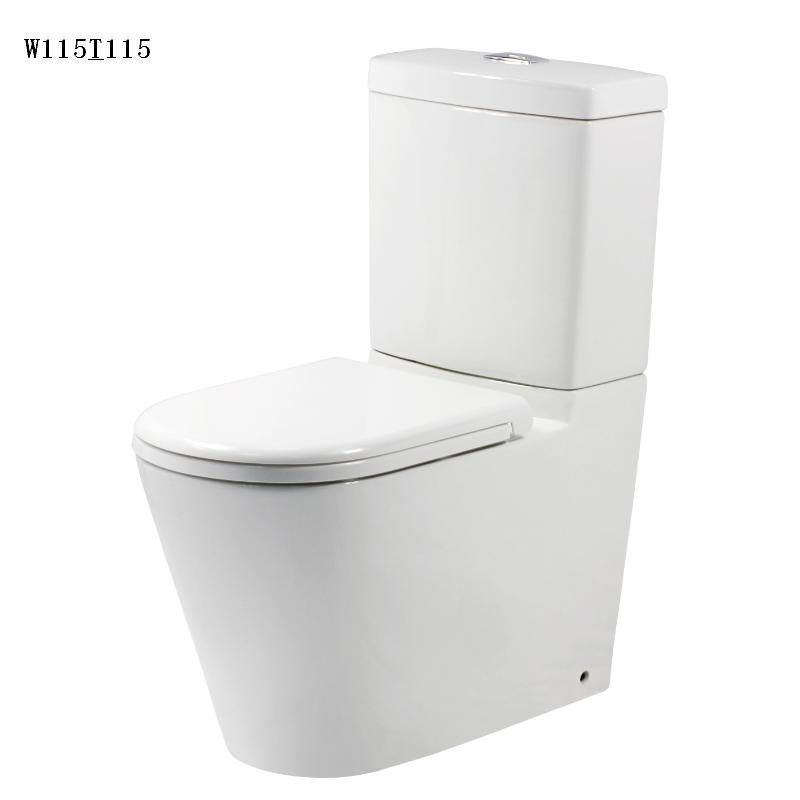Watermark Approve Europea Standard Hot Sale Square Two Piece Wc Toilet (W101&T101)