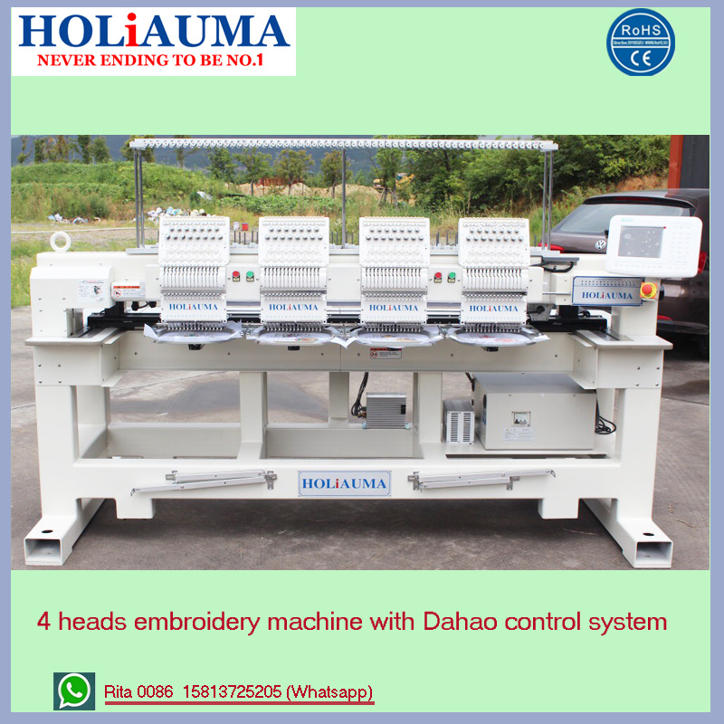 Holiauma 6 Head Sewing Embroidery Machine Computerized for High Speed Embroidery Machine Functions for Cap Embroidery