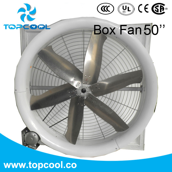 "Fiberglass Exhaust Box Fan 50"" for Livestock Special Design for Cold Days"