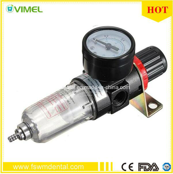 Dental Unit Spare Parts Air Filter with Gauge Afr-2000 Compressors