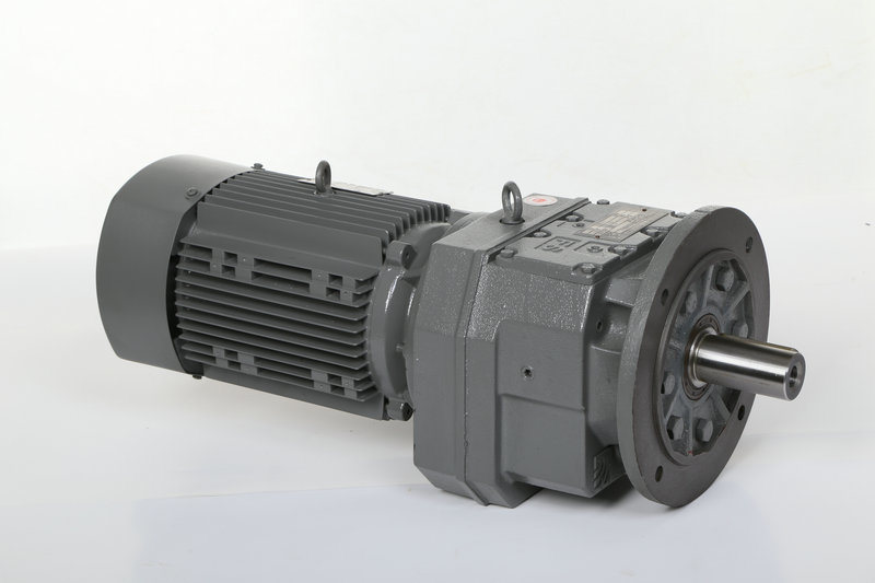 R Series Gearbox Transmission Gear Helical Gearing Reducer with Motor