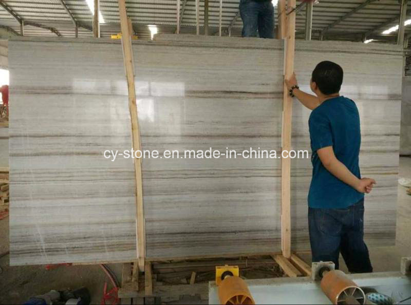Chinese Crystal Wooden Marble Slab for Floor/Wall