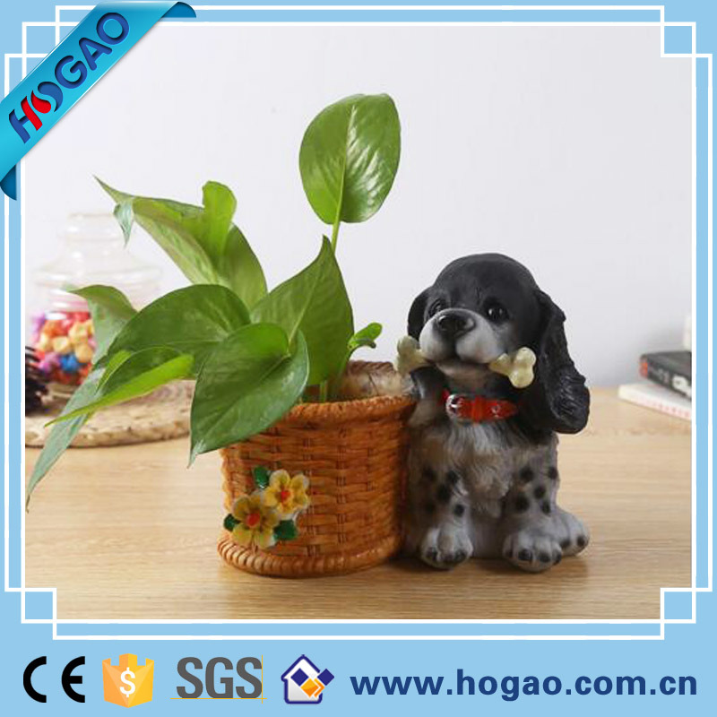 OEM Polyresin Flower Pot on Table or Garden Decoration
