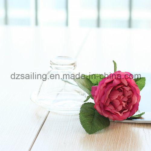 Wholesale Cheap Decorative Single Rose Artificial Flower (SF15423)