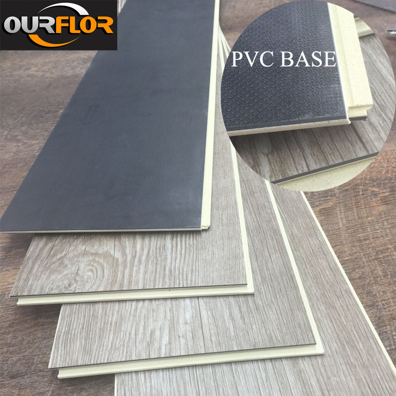 Newest WPC Vinyl Flooring Planks with PVC Baseboard/ More Tough WPC Vinyl Click Floor