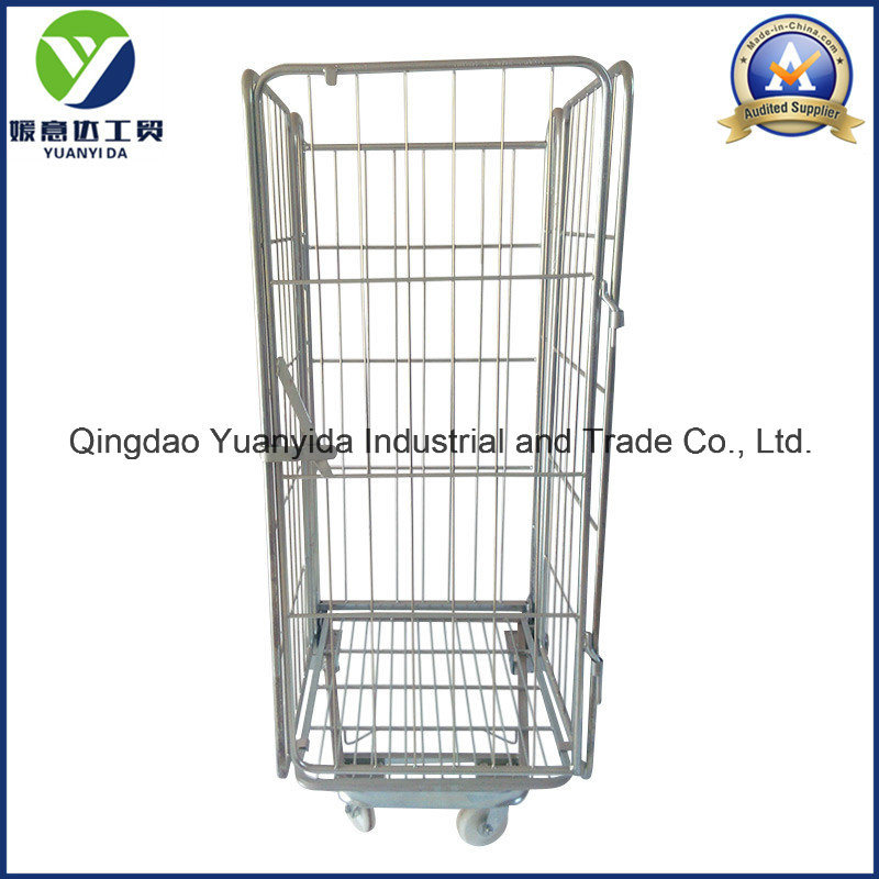 Big Wire Mesh Collapsible Roll Cage with Wheels