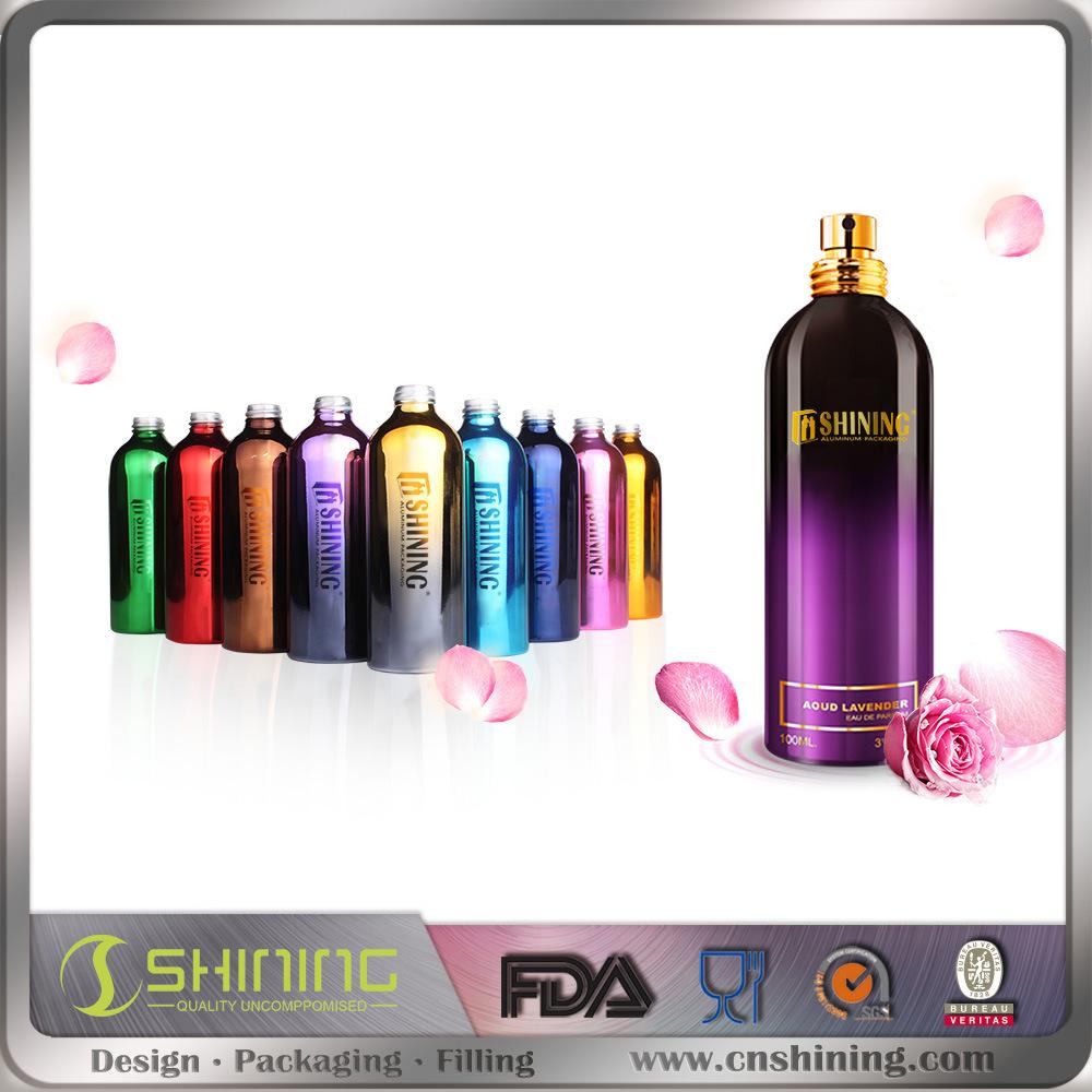 UV Coating Aluminum Cosmetic Bottle