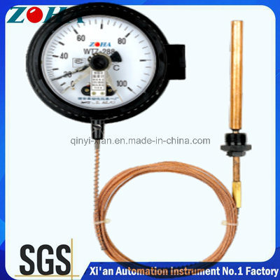Capillary Pressure Thermometer with Electric Contact
