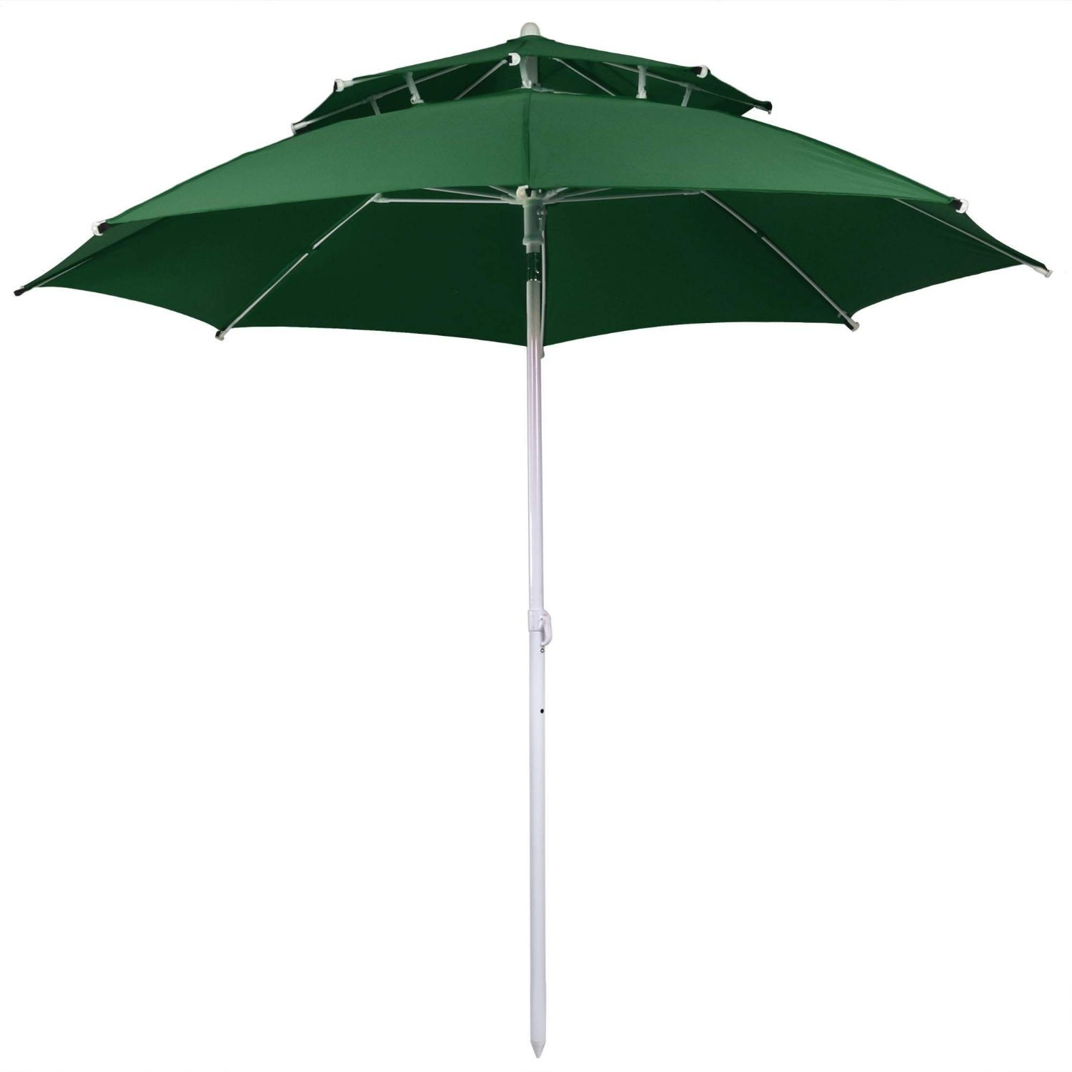 8FT Folding 2 Layers Outdoor Beach Patio Umbrella with Carry Bag