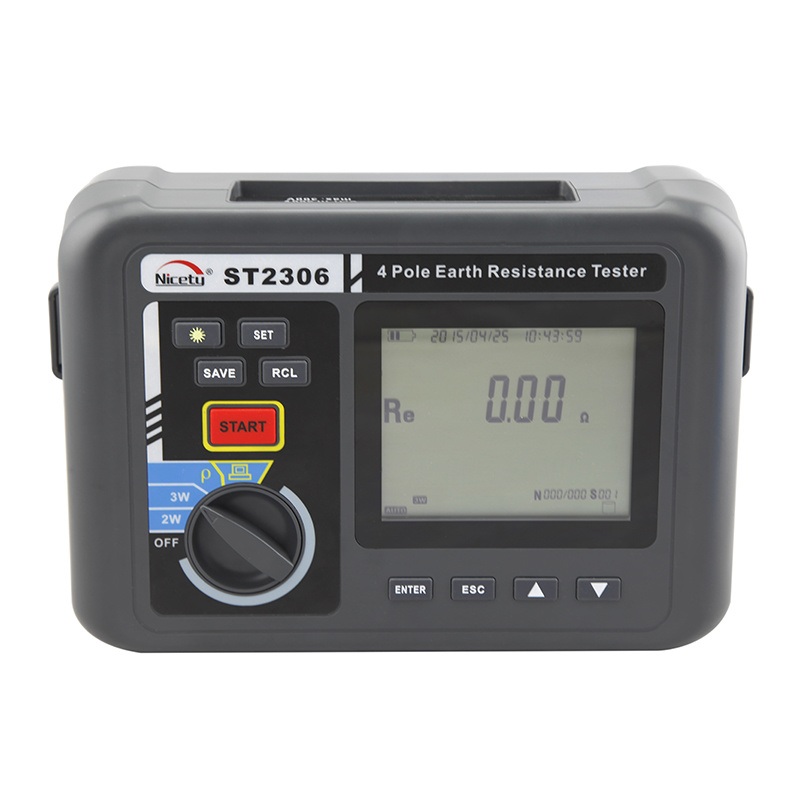 Electronic Three-Pole Digital Earth Resistance Tester