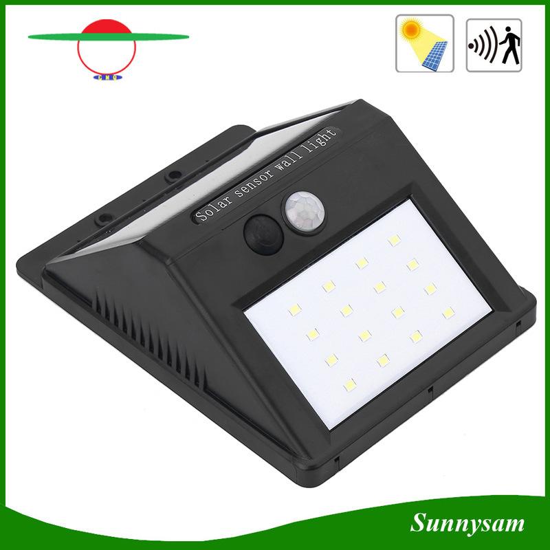 Update Solar Light IP65 PIR Motion Sensor 16LED Solar Garden Wall Light