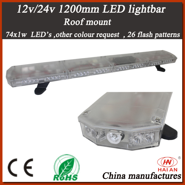 New LED Warning Lightbar with Tir and Clear Lens (TBD-GC-812L-C)