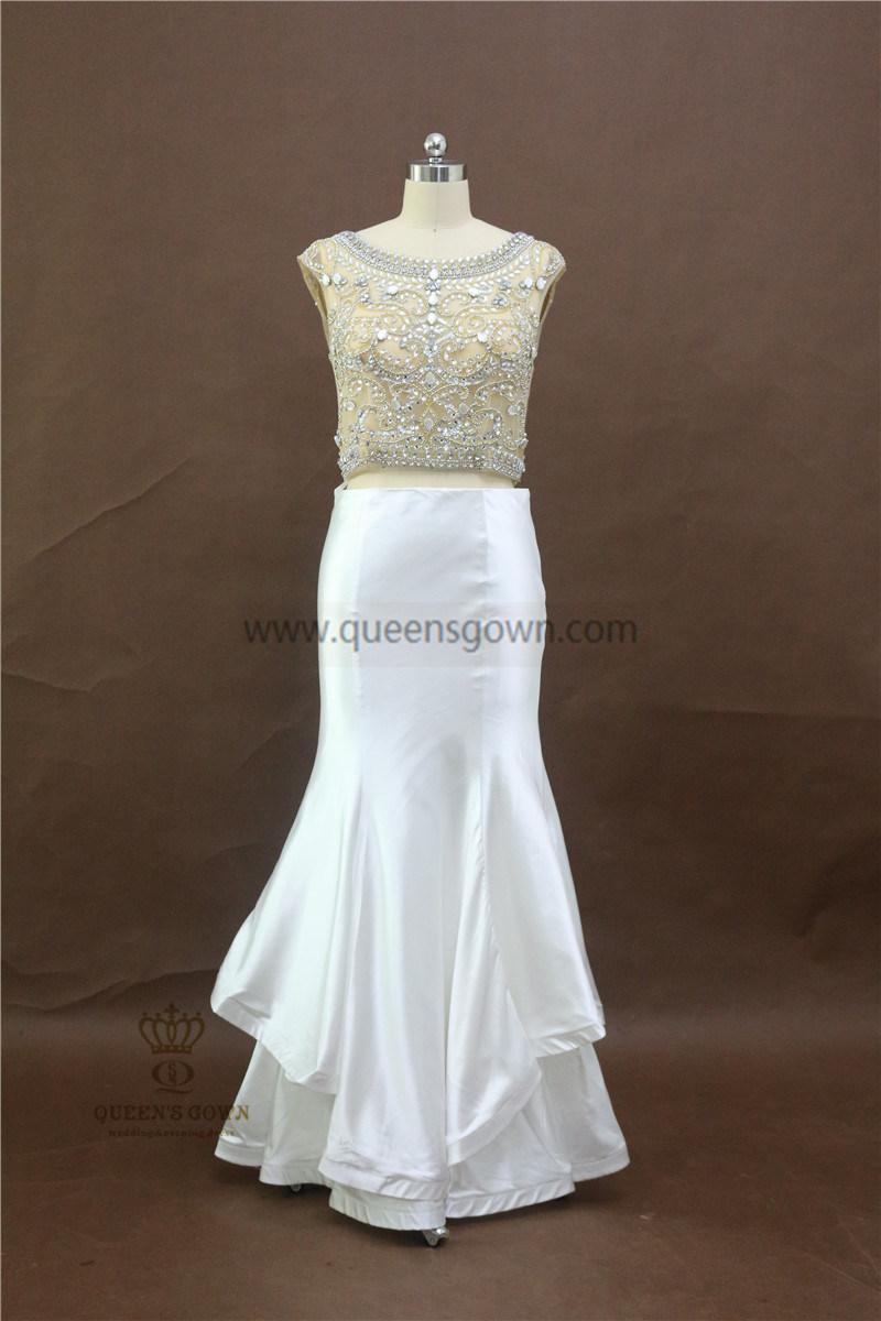 100% Real Photos Custom Made Evening Dresses with Beading