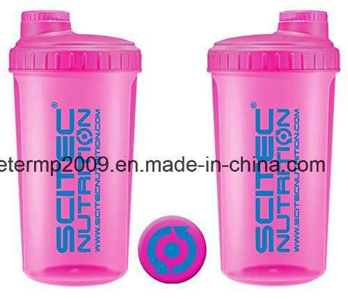 700ml Gym Shaker BPA Free Plastic Protein Shaker Bottle, PP Shaker Bottle