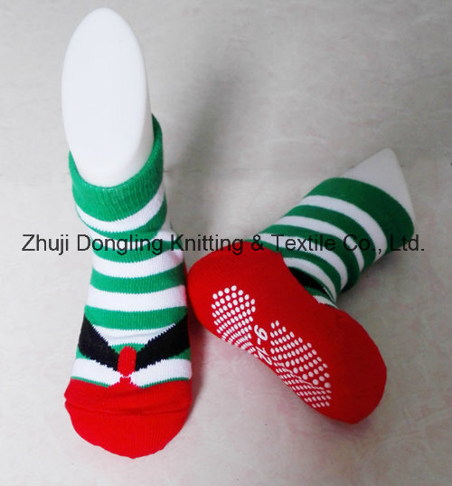 100% Cotton and Anti Slip Baby Socks