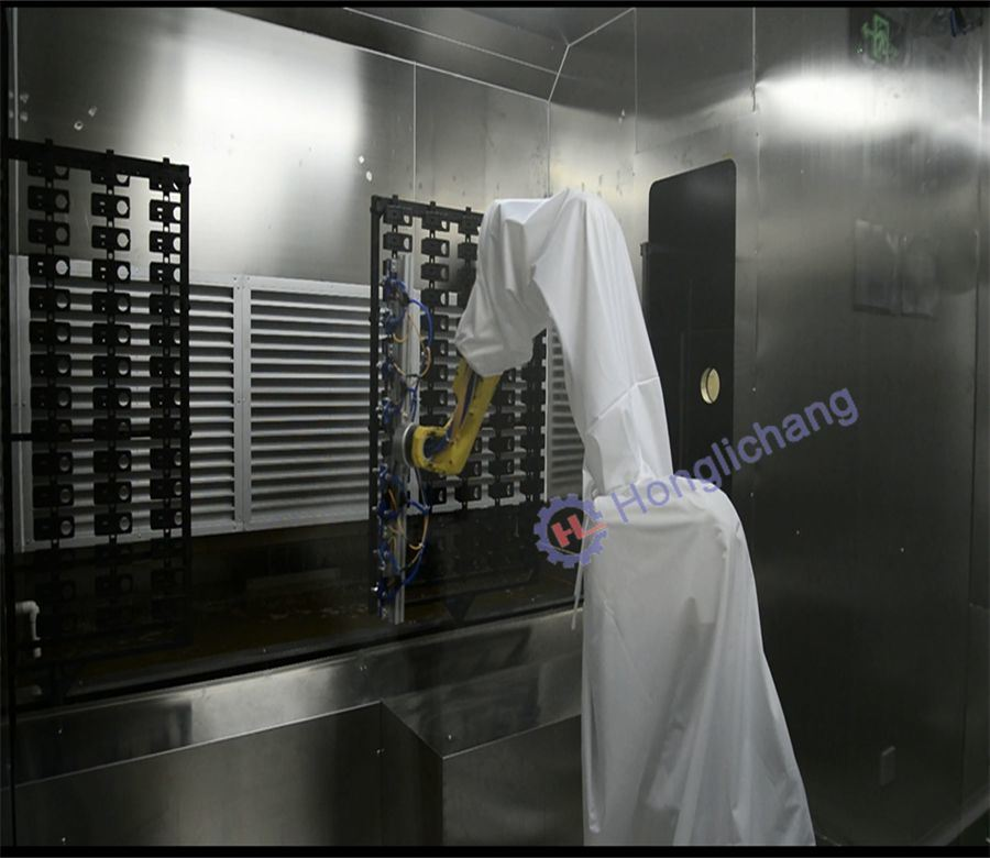Robot Automatic Spray Coating Paint Shop for Auto Parts