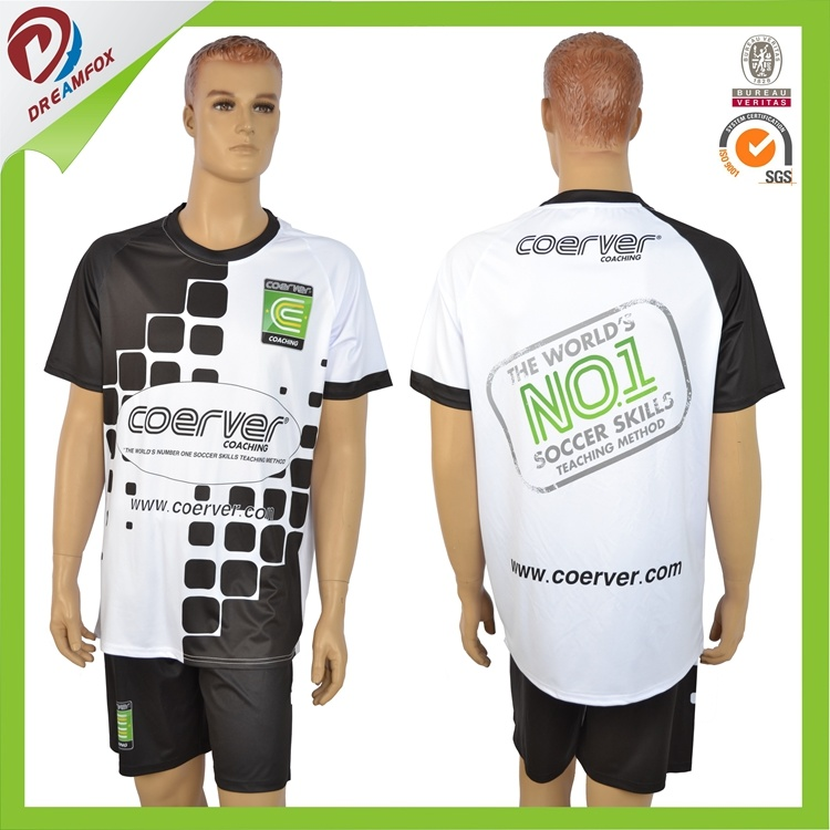 Hot Sports Team Cheap 100% Polyester Sublimated Soccer Uniforms