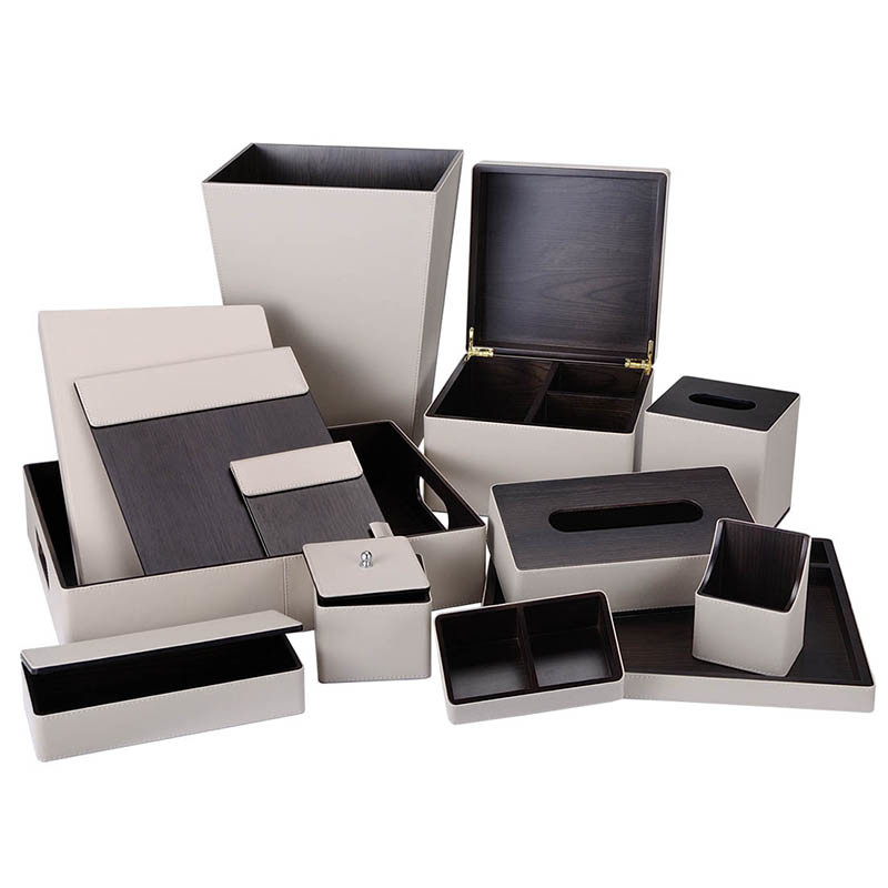PU Plus MDF Material Combination Series Hotel Amenities Leather Products