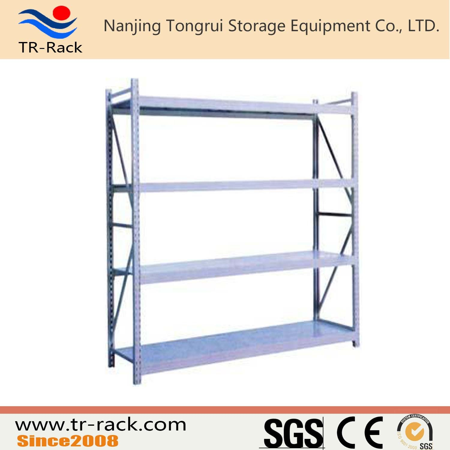 Medium Duty Long Sapn Storage Racking with Shelving