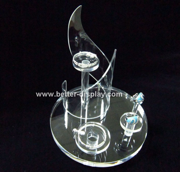 Factory Supply Acrylic Countertop Rotating Jewelry Display Stand