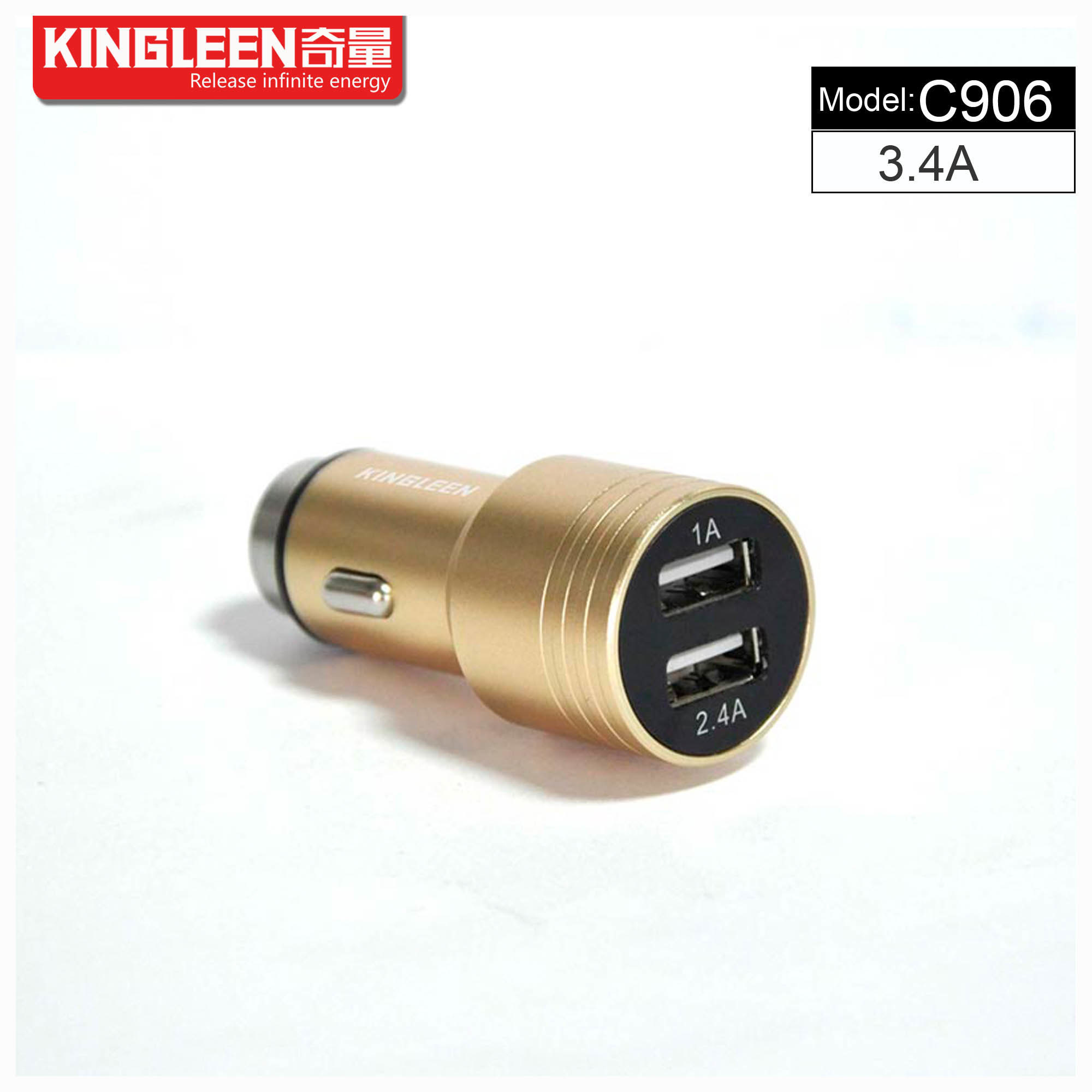 C906 Dual USB Smart Car Charger Hight Quality Original Factory Production