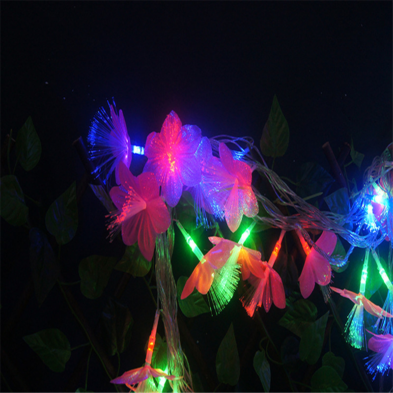 Bo Light String with Fiber Flower for Decoration