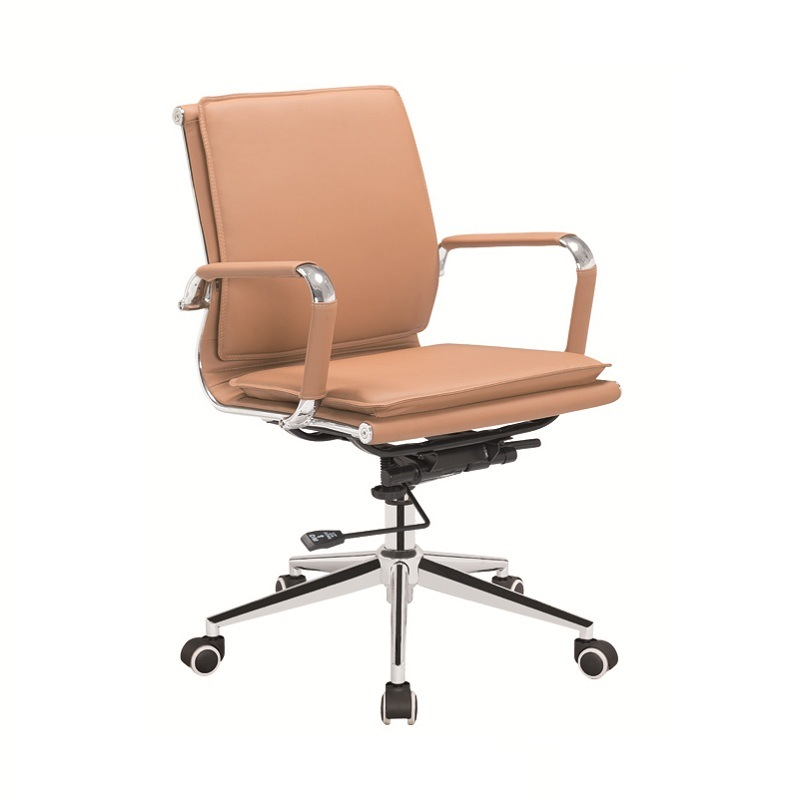 Steel Frame Chair/Low Back Soft Padding Chair /Office Chair