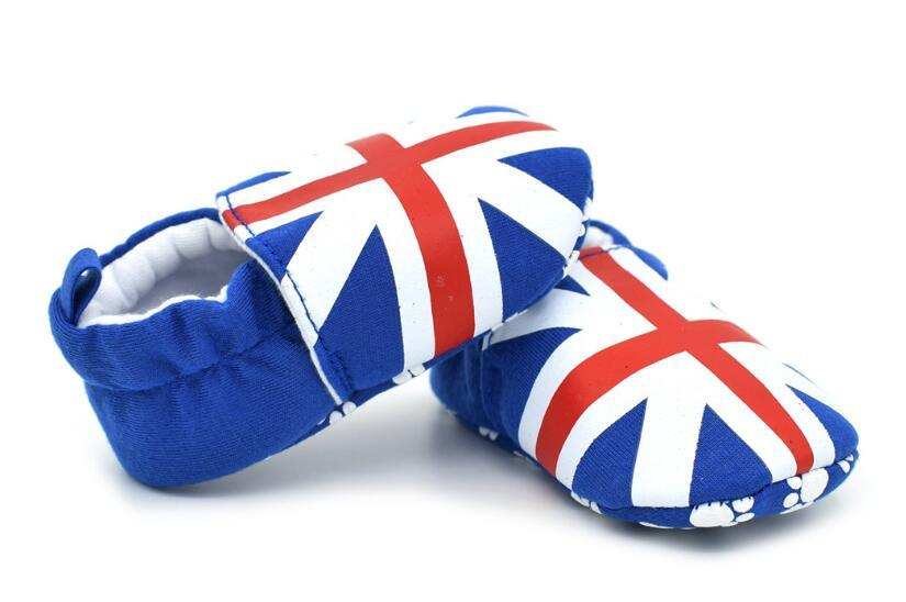 Baby Indoor Shoes with UK Flag Printing