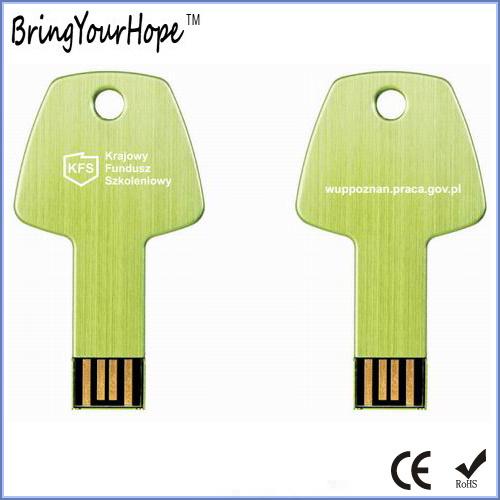 16GB Key USB in Grass Green with Laser Logo (XH-USB-054)
