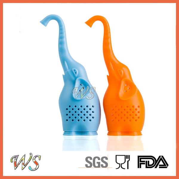 Ws-If054s Elephant Silicone Tea Infuser Set Tea Filter Food Grade Tea Strainer