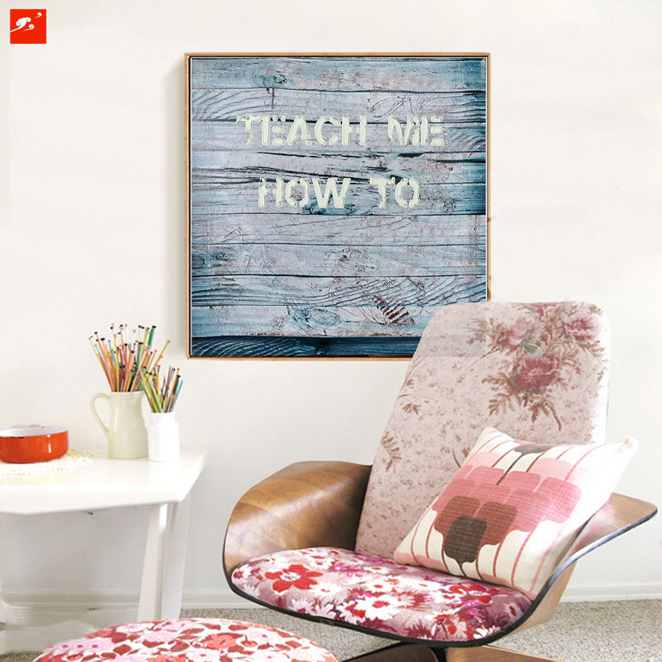 Modern Text Wood Wall Decor