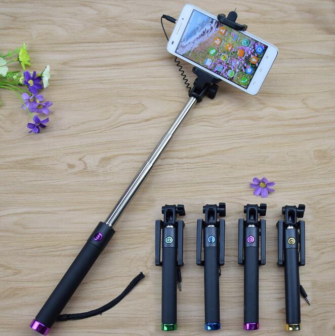 2016 Third Generation Popular Promotional Cheap Monopod Selfie Stick, Colorful Extendable Selfie Stick for Smart Phone