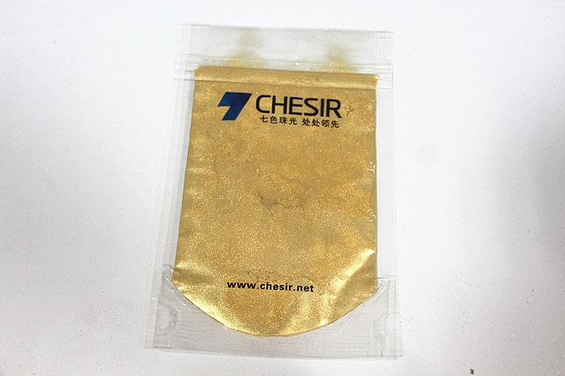 Chesir Reddish Gold Pearl Pigment for Coating Plastic (QC 353K)