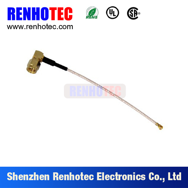 RF Connector MCX to SMA Panel with 4 Holes for Rg58 Cable Assembly