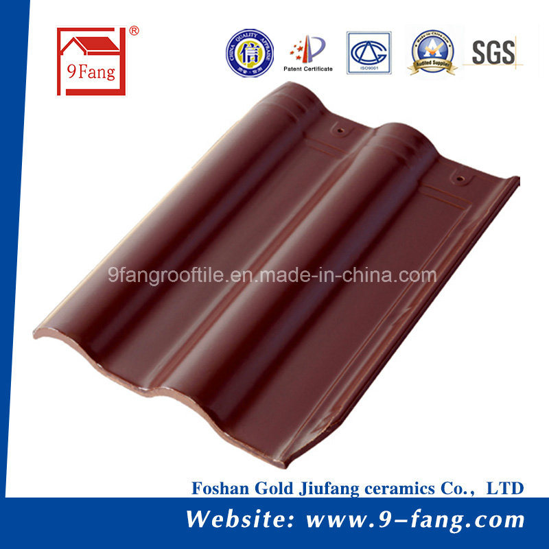 Chinese Roof Tile Interlocked Clay Roof Tile 300*400mm Villa Ceramic Roofing Tile Factory Supplier From Guangdong, China