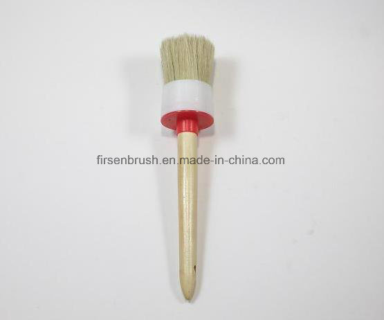 Bristle Round Paint Brush with Wood Handle