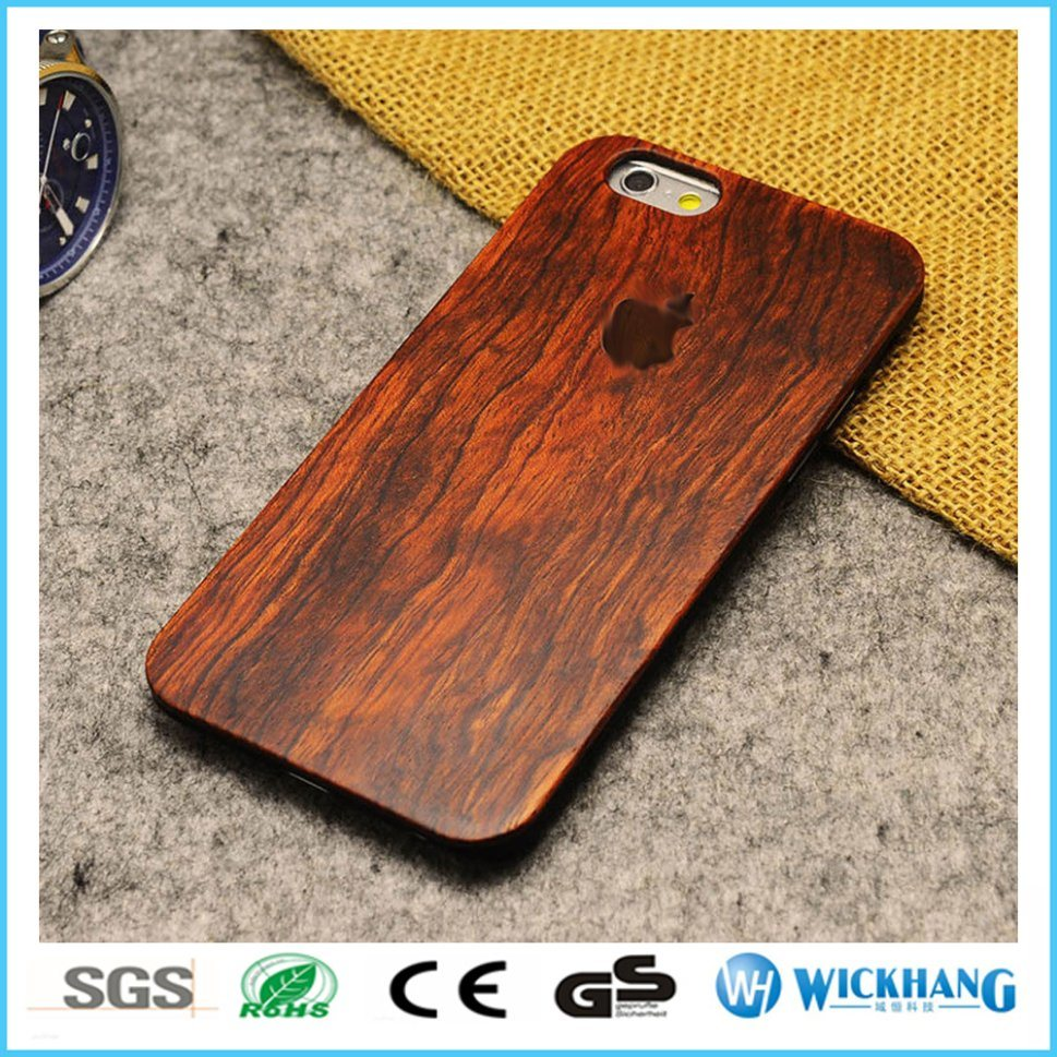 Rosewood Natural Carved Wood Hard Case for iPhone 8