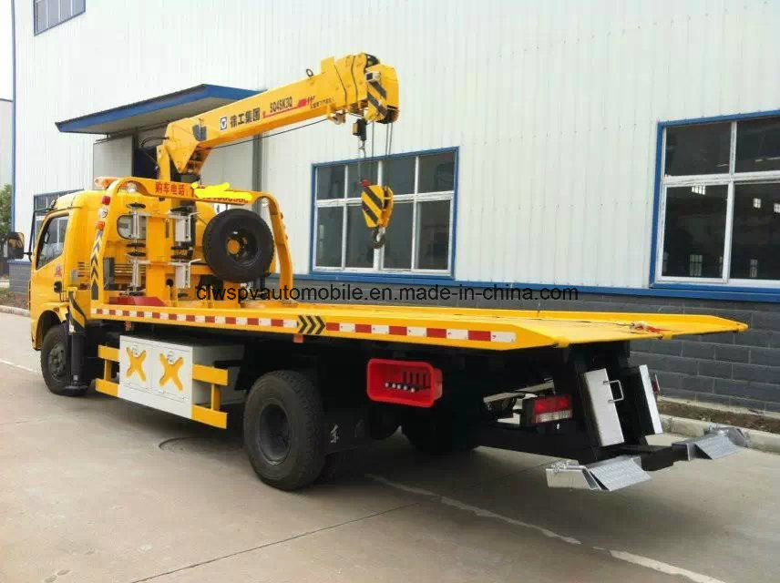 Dongfeng Rhd Wrecker 4*2 4tons Lifting Lorry Truck Price