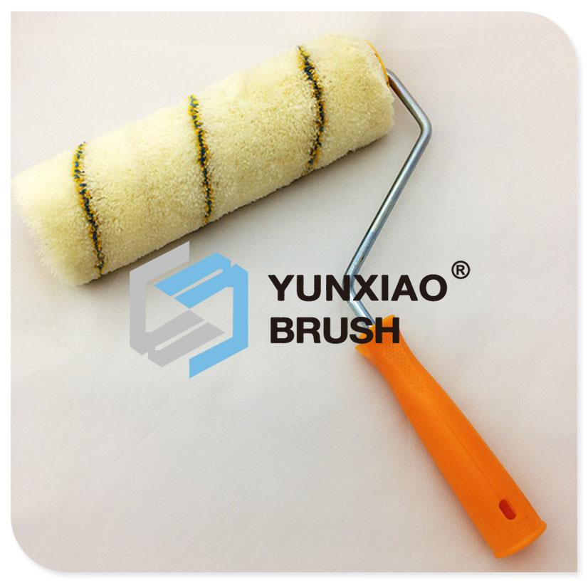 Microfiber High Twist Paint Roller Brush with Stripe
