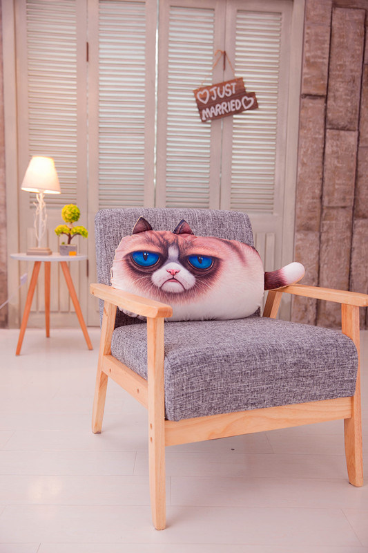Cat Prints Home Office Seat Cushion