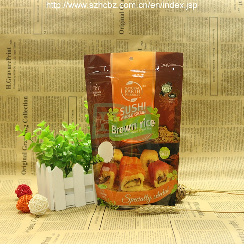 Resealable Plastic Zipper Bag for Food