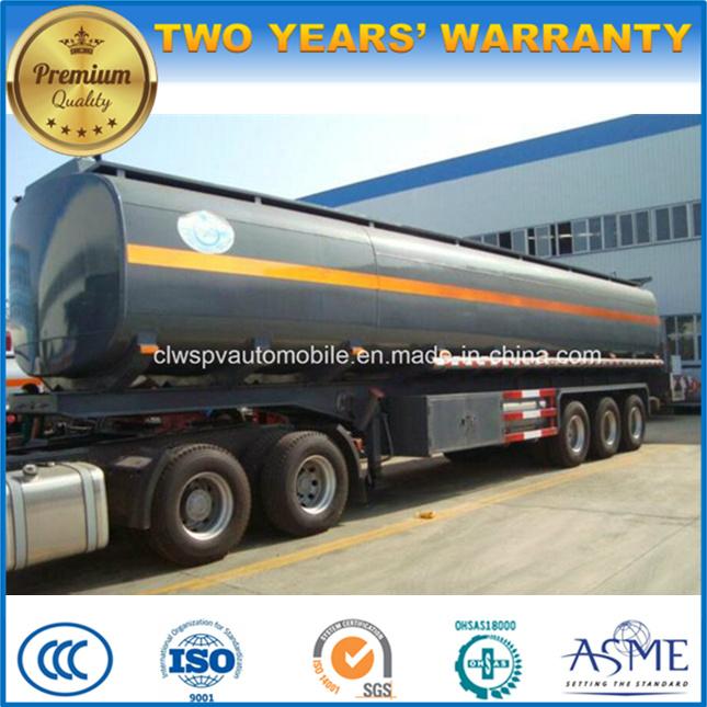 3 Axles Crude Oil Steel Semi Trailer 40000 L Fuel Tanker Trailer Peice