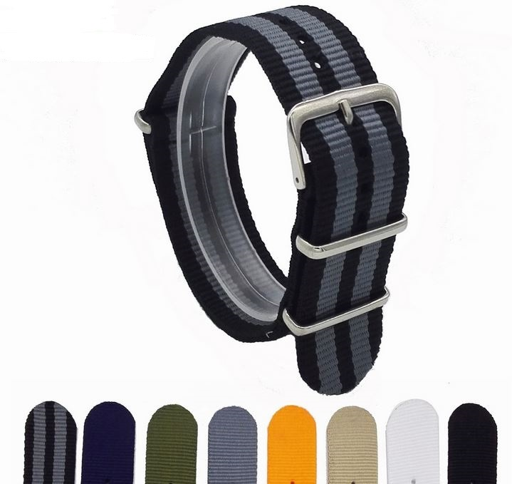 Nato Nylon Watch Strap Band with Custom Sizes Fits All Watches