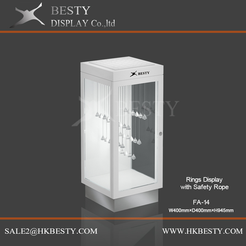 Ring Display Counter Top Showcase with Safe system