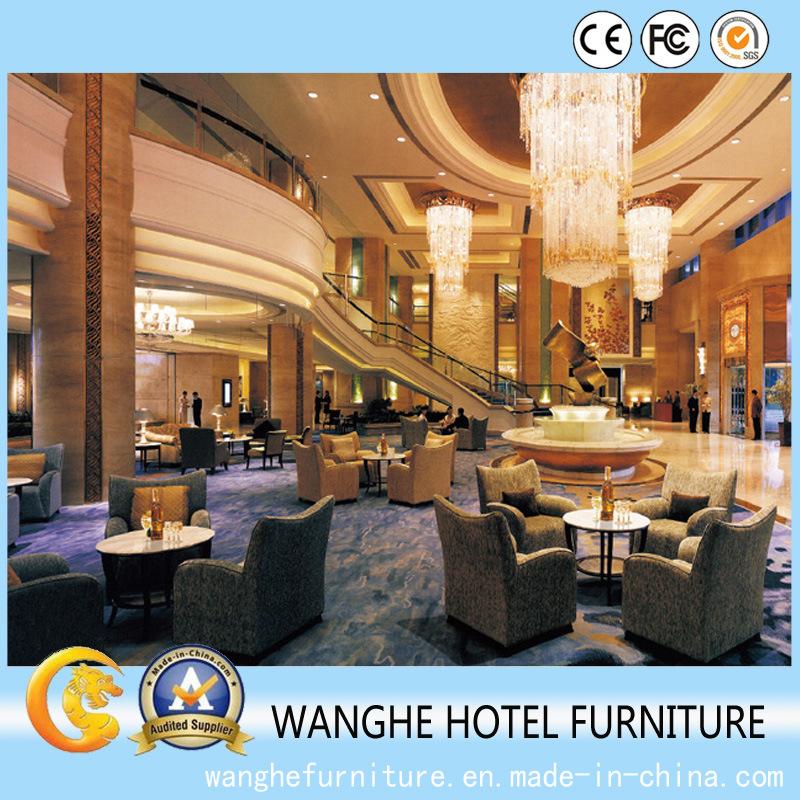 Modern Wooden Sofa Hotel Public Area Furniture