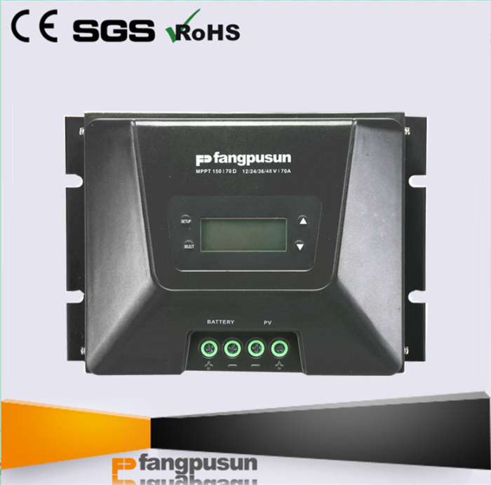 New Design Fangpusun 12V 24V 36 48V Rated Voltage LCD Display Intelligent Solar Battery Charger MPPT Controllers 70A 60A 45A