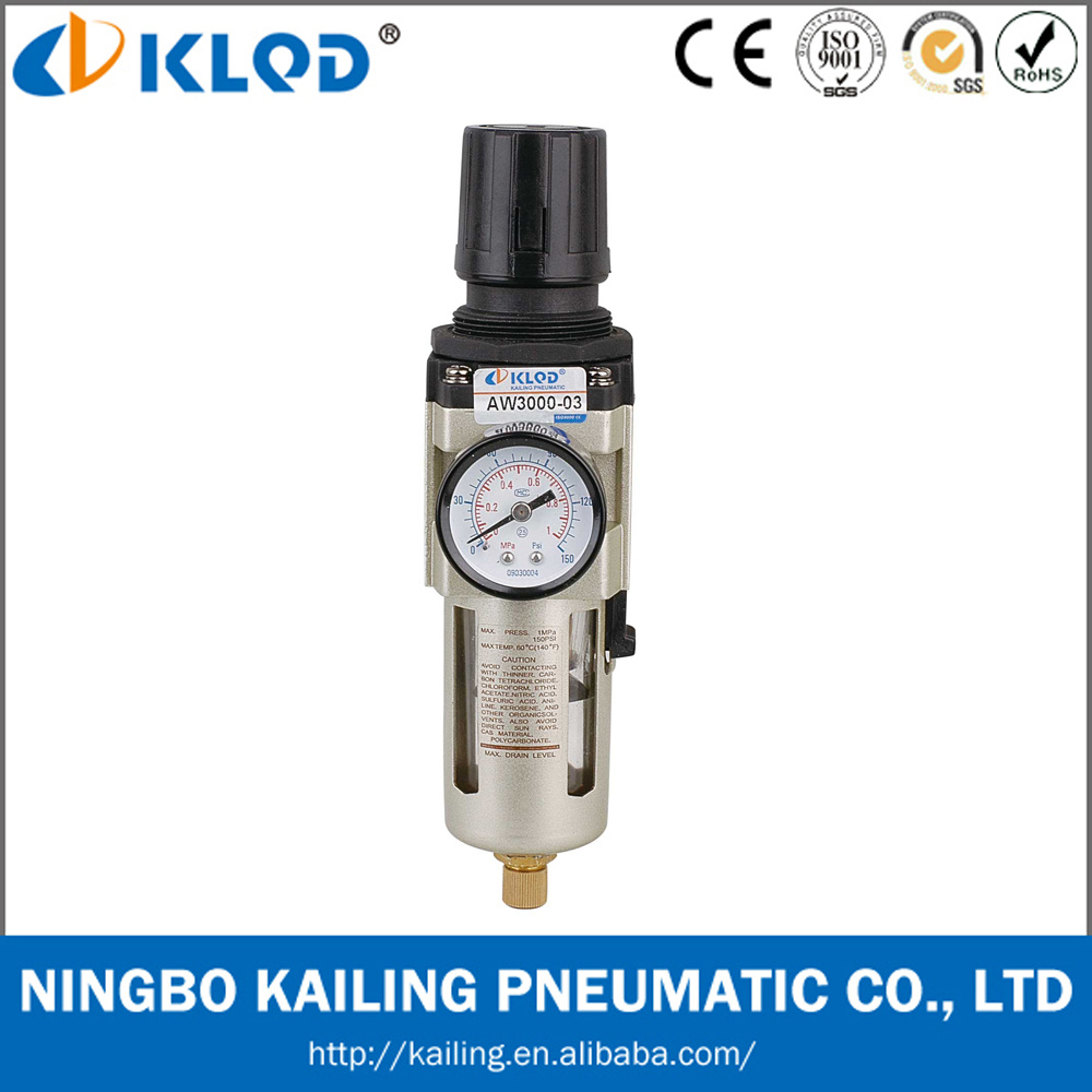 Aw Series 1/4 Inch Modular Type Pneumatic Air Filter Regulator Aw3000-02